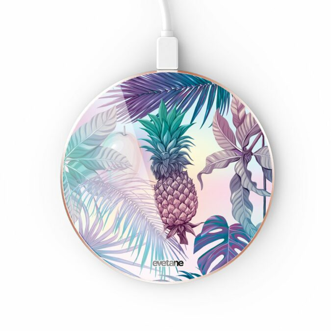 Chargeur Induction contour gold Ananas Violet Evetane