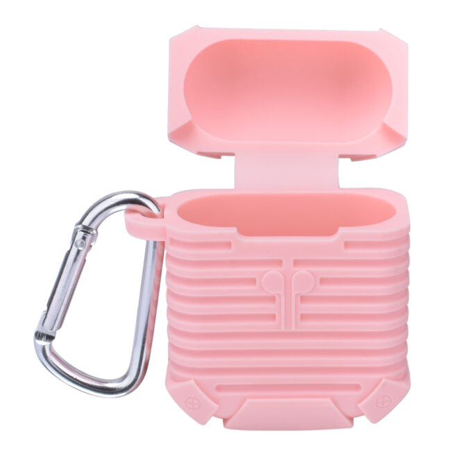 Housse en silicone rose  pour Airpods