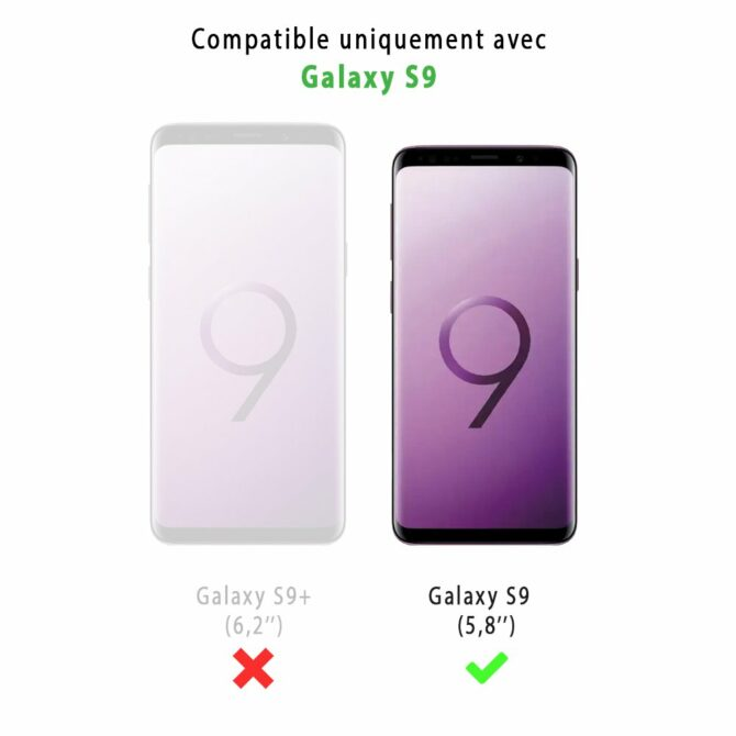 Lot de 3 vitres Samsung Galaxy S9 de protection en verre trempé