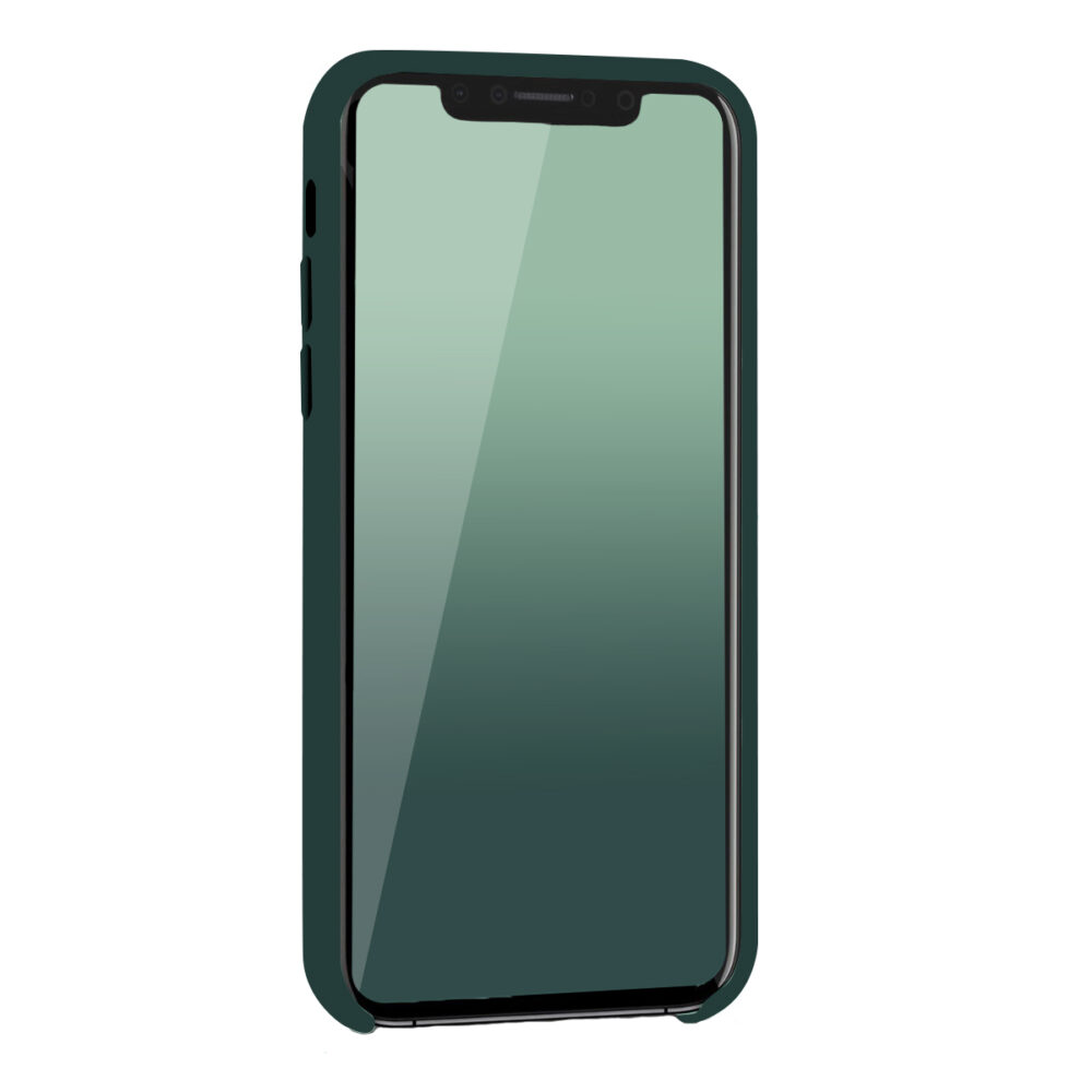 Coque iPhone Xr silicone liquide Vert forêt