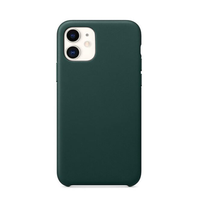 Coque iPhone 11 silicone liquide Vert forêt